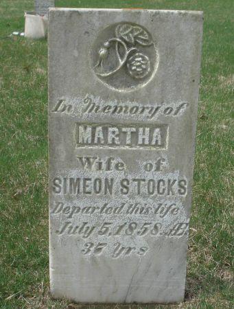 STOCKS, MARTHA - Dubuque County, Iowa   MARTHA STOCKS
