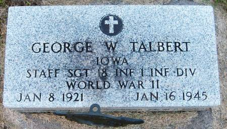 TALBERT, GEORGE W. - Dubuque County, Iowa | GEORGE W. TALBERT