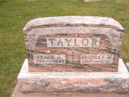 TAYLOR, FRANK J. & BRIDGET M. - Dubuque County, Iowa   FRANK J. & BRIDGET M. TAYLOR