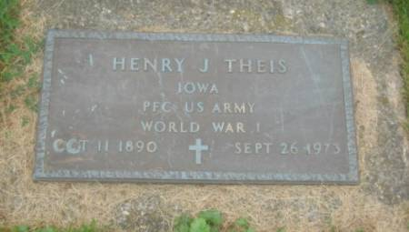 THEIS, HENRY J. - Dubuque County, Iowa   HENRY J. THEIS