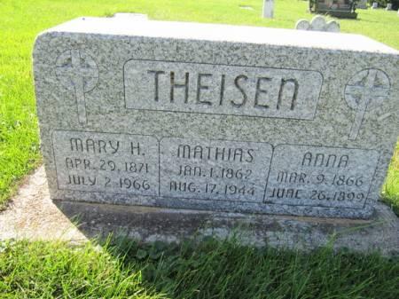 THEISEN, MARY H. - Dubuque County, Iowa | MARY H. THEISEN