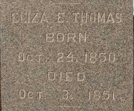 THOMAS, ELIZA E. - Dubuque County, Iowa | ELIZA E. THOMAS
