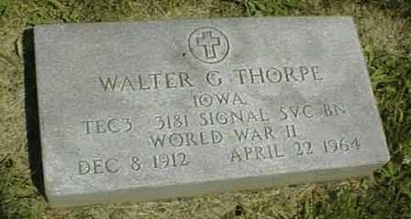 THORPE, WALTER G. - Dubuque County, Iowa   WALTER G. THORPE