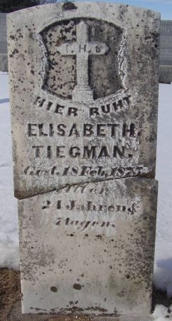 TIEGMAN, ELISABETH - Dubuque County, Iowa | ELISABETH TIEGMAN