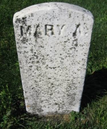 UNKNOWN, MARY A. - Dubuque County, Iowa   MARY A. UNKNOWN