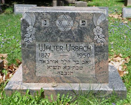 URBACH, WALTER - Dubuque County, Iowa   WALTER URBACH