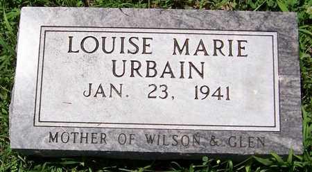 URBAIN, LOUISE MARIE - Dubuque County, Iowa   LOUISE MARIE URBAIN