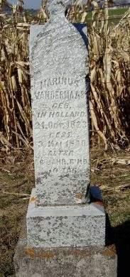 VANDERMAAS, MARINUS - Dubuque County, Iowa | MARINUS VANDERMAAS