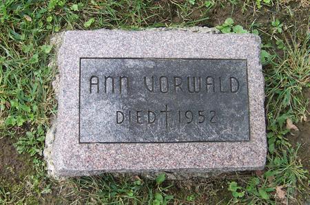 VORWALD, ANN - Dubuque County, Iowa | ANN VORWALD