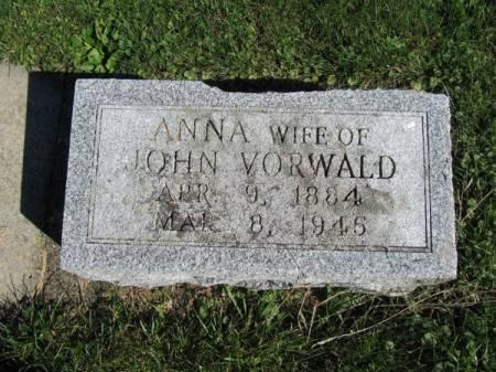 VORWALD, ANNA - Dubuque County, Iowa   ANNA VORWALD