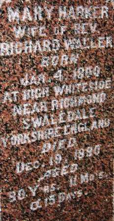 HARKER WALLER, MARY - Dubuque County, Iowa | MARY HARKER WALLER