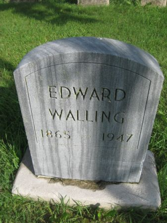 WALLING, EDWARD - Dubuque County, Iowa   EDWARD WALLING