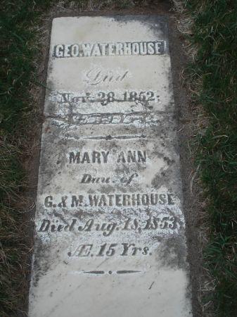 WATERHOUSE, MARY ANN - Dubuque County, Iowa | MARY ANN WATERHOUSE
