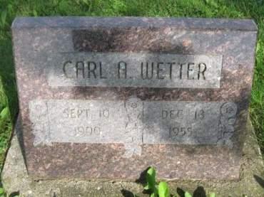 WETTER, CARL A. - Dubuque County, Iowa   CARL A. WETTER