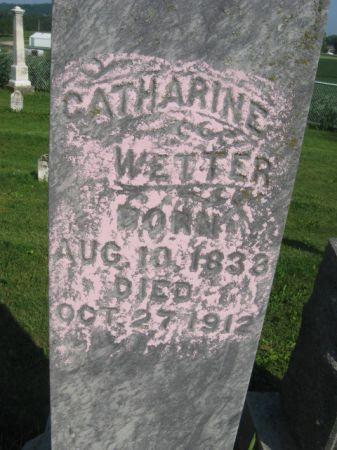 WETTER, CATHERINE - Dubuque County, Iowa   CATHERINE WETTER