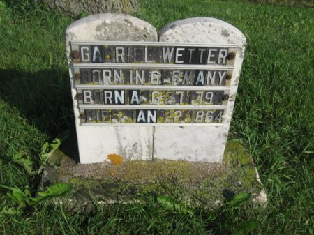 WETTER, GABRIEL - Dubuque County, Iowa   GABRIEL WETTER