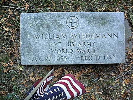 WIEDEMANN, F. WILLIAM - Dubuque County, Iowa | F. WILLIAM WIEDEMANN