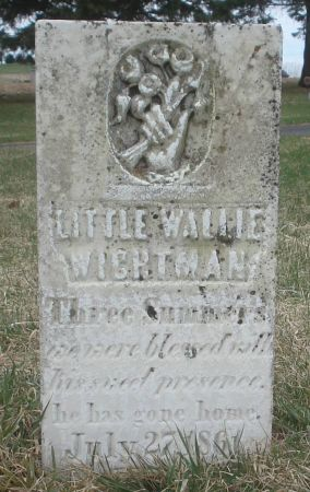 WIGHTMAN, WALLIE - Dubuque County, Iowa   WALLIE WIGHTMAN
