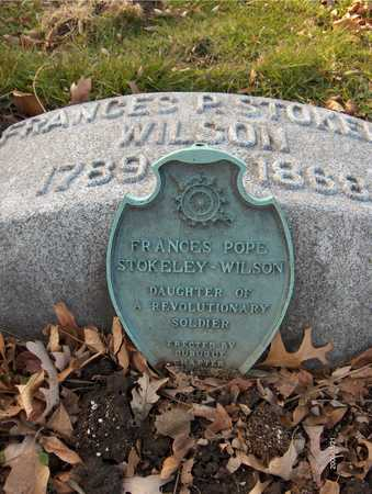 STOKELY WILSON, FRANCES POPE - Dubuque County, Iowa | FRANCES POPE STOKELY WILSON