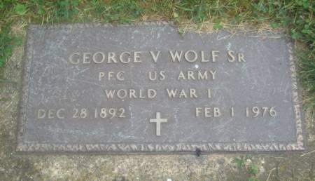 WOLF, GEORGE V. SR. - Dubuque County, Iowa | GEORGE V. SR. WOLF