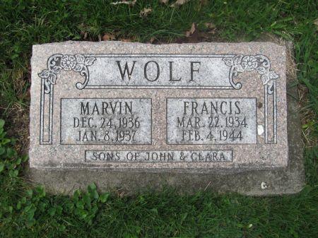 WOLF, FRANCIS - Dubuque County, Iowa   FRANCIS WOLF
