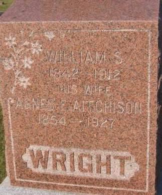 WRIGHT, AGNES F. - Dubuque County, Iowa | AGNES F. WRIGHT