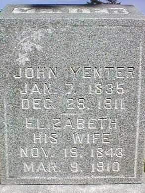 YENTER, ELIZABETH - Dubuque County, Iowa | ELIZABETH YENTER
