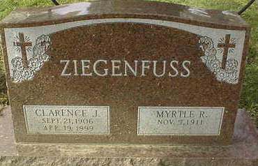 ZIEGENFUSS, CLARENCE J. AND MYRTLE R. - Dubuque County, Iowa | CLARENCE J. AND MYRTLE R. ZIEGENFUSS