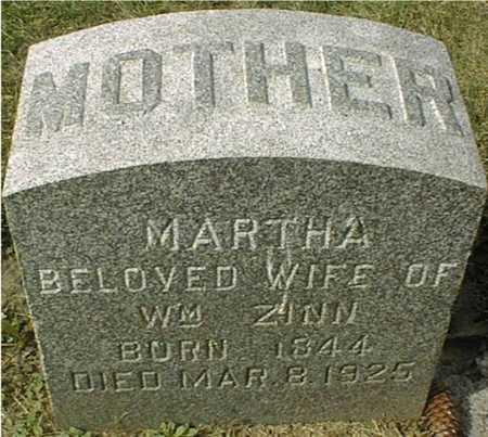 ZINN, MARTHA - Dubuque County, Iowa | MARTHA ZINN