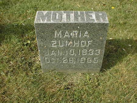 ZUMHOF, MARIA - Dubuque County, Iowa | MARIA ZUMHOF