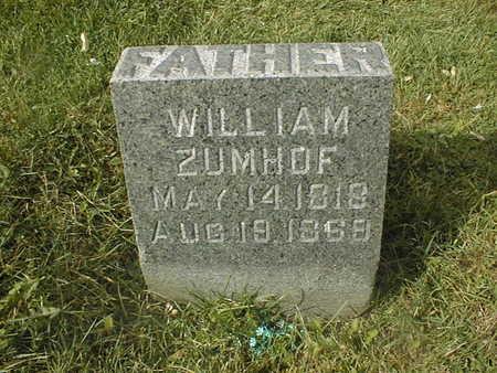 ZUMHOF, WILLIAM - Dubuque County, Iowa | WILLIAM ZUMHOF