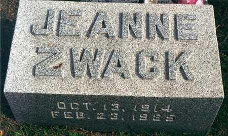 ZWACK, JEANNE - Dubuque County, Iowa | JEANNE ZWACK