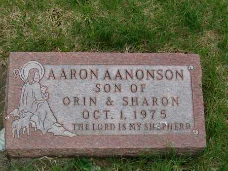 AANONSON, AARON - Emmet County, Iowa   AARON AANONSON