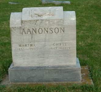 AANONSON, MARTHA - Emmet County, Iowa | MARTHA AANONSON