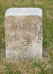 AANONSON, JULIA - Emmet County, Iowa   JULIA AANONSON