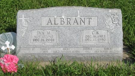 ALBRANT, IVA M. - Emmet County, Iowa | IVA M. ALBRANT