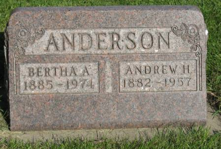 ANDERSON, ANDREW H. - Emmet County, Iowa   ANDREW H. ANDERSON