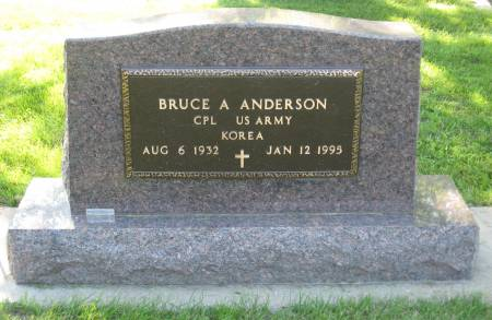 ANDERSON, BRUCE A. - Emmet County, Iowa   BRUCE A. ANDERSON