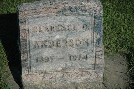 ANDERSON, CLARENCE O. - Emmet County, Iowa | CLARENCE O. ANDERSON