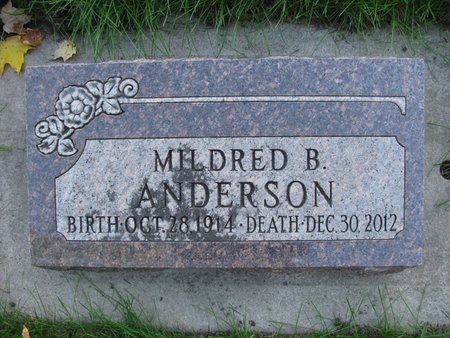 ANDERSON, MILDRED B. - Emmet County, Iowa | MILDRED B. ANDERSON