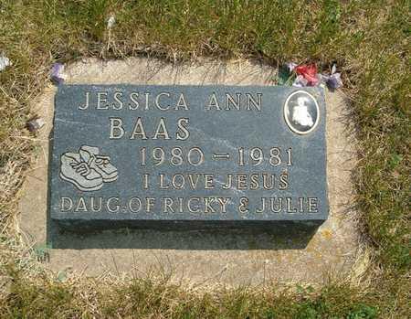 BAAS, JESSICA ANN - Emmet County, Iowa   JESSICA ANN BAAS