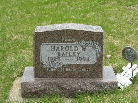 BAILEY, HAROLD W. - Emmet County, Iowa | HAROLD W. BAILEY
