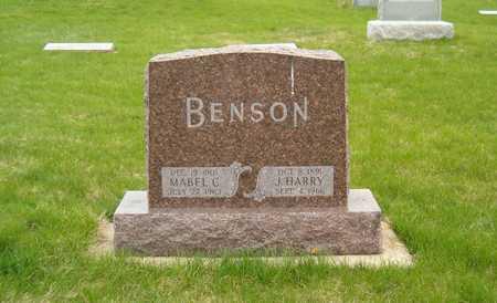 BENSON, MABEL C. - Emmet County, Iowa   MABEL C. BENSON