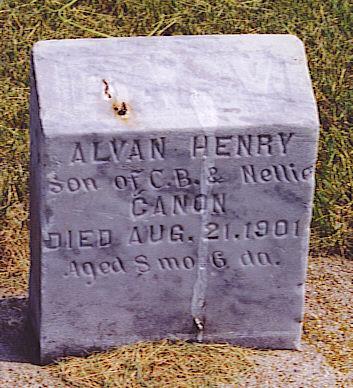 CANON, ALVAN HENRY - Emmet County, Iowa   ALVAN HENRY CANON