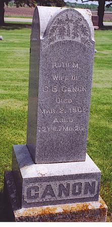 WOOD CANON, RUTH M. - Emmet County, Iowa | RUTH M. WOOD CANON