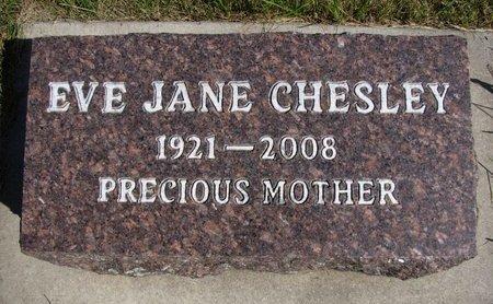 CHESLEY, EVE JANE - Emmet County, Iowa   EVE JANE CHESLEY