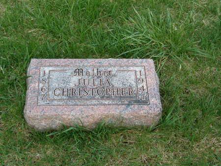 CHRISTOPHER, JULIA - Emmet County, Iowa | JULIA CHRISTOPHER