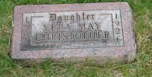 CHRISTOPHER, VERA MAY - Emmet County, Iowa   VERA MAY CHRISTOPHER