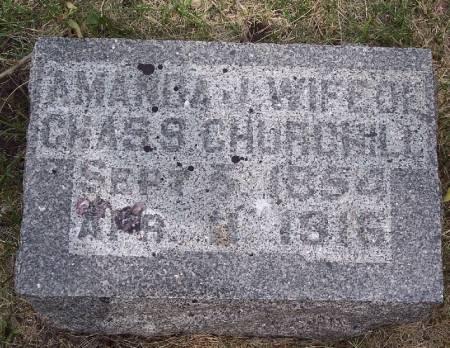 CHURCHILL, AMANDA JANE - Emmet County, Iowa | AMANDA JANE CHURCHILL