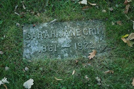 CRIM, SARAH JANE - Emmet County, Iowa | SARAH JANE CRIM
